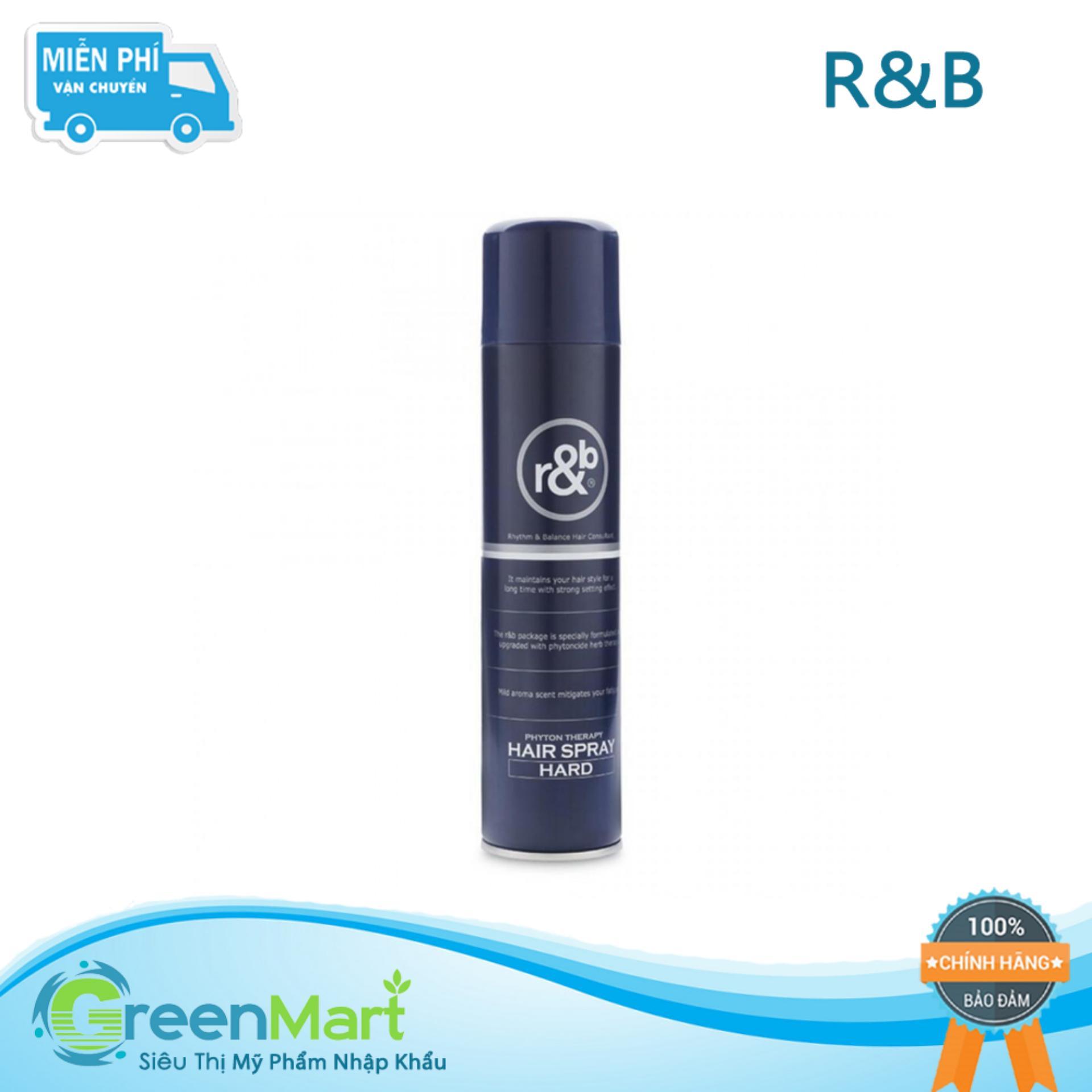 Keo xịt tạo kiểu giữ nếp tóc Hàn Quốc R&B Hair Spray Hard 300ml