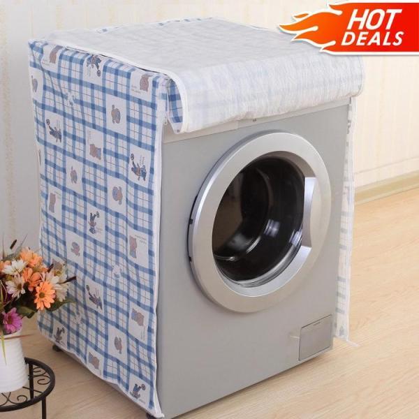 Áo Trùm Máy Giặt Cửa Ngang Vải Dù Size 9 - 10kg Họa Tiết Caro - Kara House - Gia dụng bếp