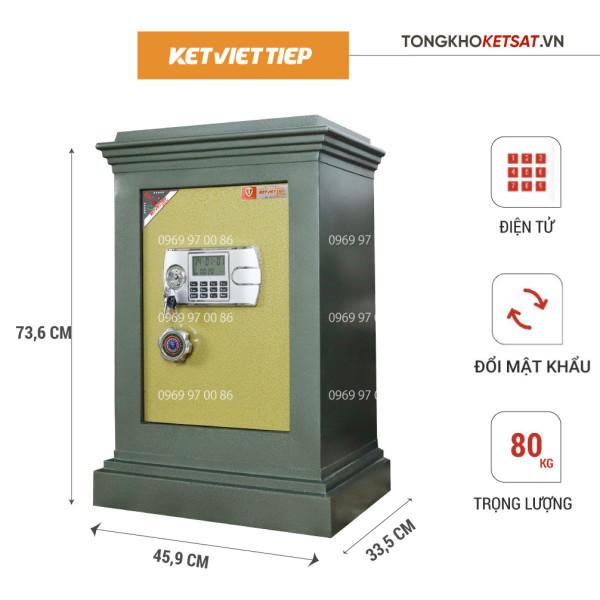 Két Sắt Điện Tử Chống Cháy Việt Tiệp K306-DT Hàng Chính Hãng (Mẫu Mới 2021)