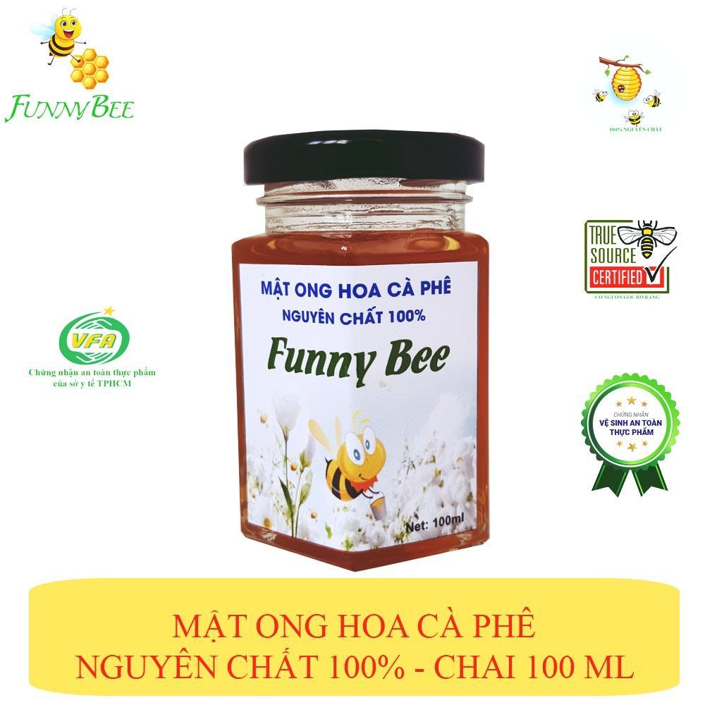 Mật ong hoa Cà Phê nguyên chất 100% Funny Bee - chai 100ml