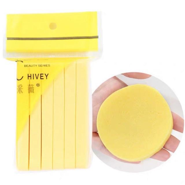 [HCM]Gói bông mút rửa mặt bọt biển Chivey (Gói 12 miếng) màu ngẫu nhiên