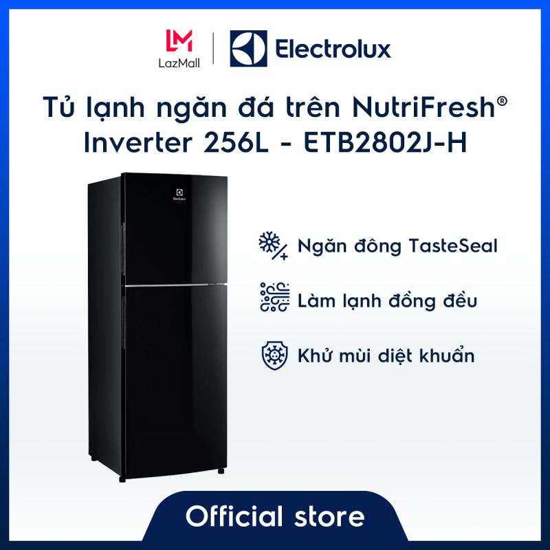 Tủ lạnh Electrolux 256L ETB2802J-H  – Màu đen độc đáo – Ngăn đông mềm giữ thực phẩm tươi ngon – Khử mùi diệt khuẩn - Hàng chính hãng