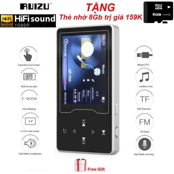 (Quà tặng kèm đặc biệt trị giá 159K) Máy nghe nhạc MP3/MP4 chất lượng cao màn hình lớn HD 2.4 inches xem phim cực đã Ruizu D08 - May nghe nhac MP3/MP4 - May nghe nhac Ruizu