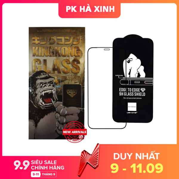 CHÍNH HÃNG Kính Cường Lực King Kong Full Màn iPhone 7Plus 8 Plus X XR XSMax 11 Pro 11 11 ProMax 12 Pro 12 ProMax