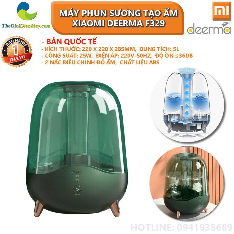 [Bản quốc tế] Máy phun sương tạo ẩm Xiaomi Deerma Humidifier F329 không dùng được tinh dầu - Bảo hành 1 tháng - Shop Thế Giới Điện Máy