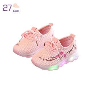27 Giày Đèn LED Cho Trẻ Em Unisex Giày Thể Thao Trẻ Em Chống Trượt Thường Ngày Thêu