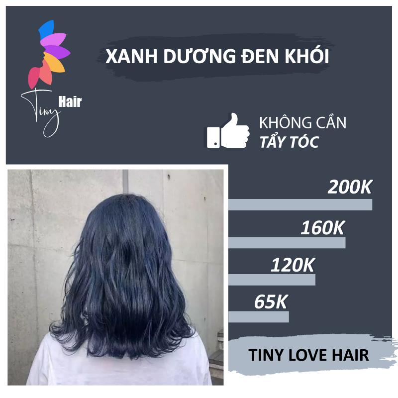 Thuốc nhuộm tóc màu XANH DƯƠNG ĐEN KHÓI giá rẻ