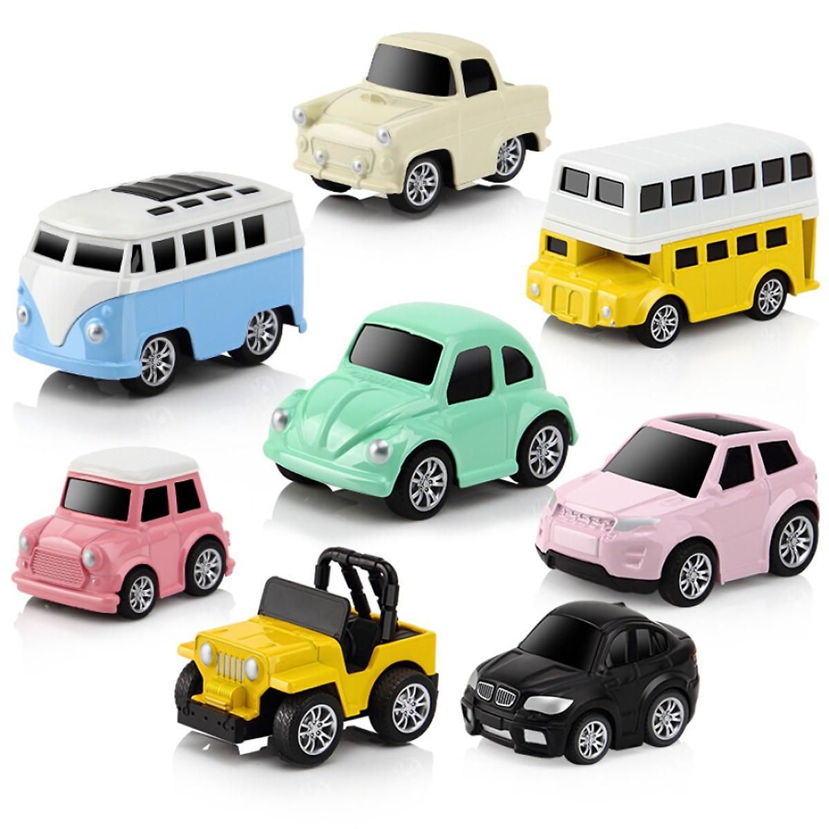 Ưu Đãi Giá cho Bộ 8 Ô Tô Mô Hình Bằng Sắt MINI CAR - Đồ Chơi Cho Bé Trai
