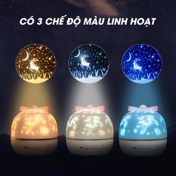 Đèn ngủ chiếu sao cổ tích, đại dương, xoay tự động đèn LED lãng mạn