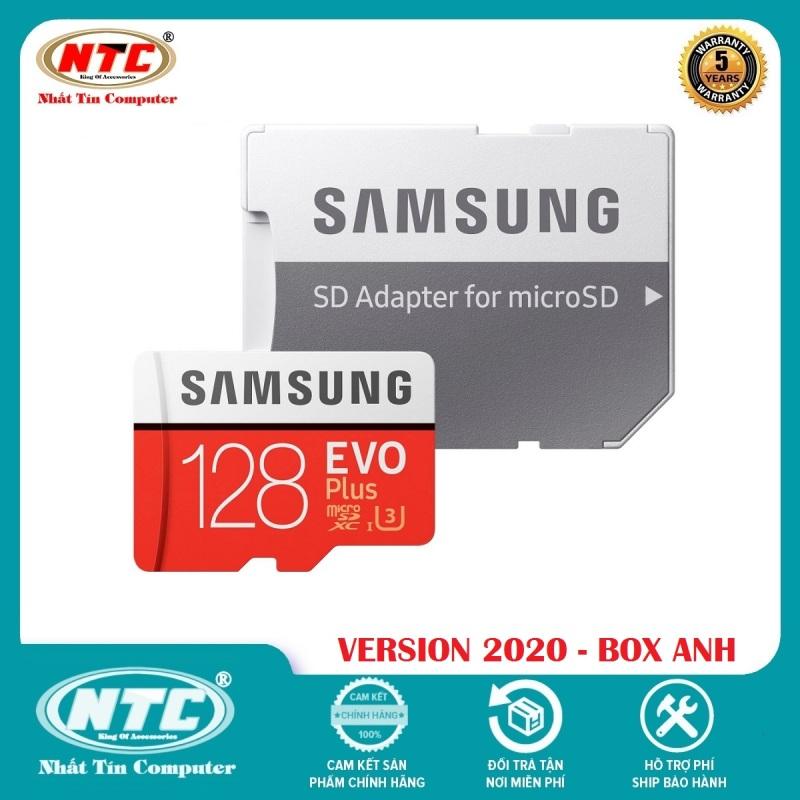 [TẶNG 10 BAO LÌ XÌ] Thẻ nhớ MicroSDXC Samsung Evo Plus 128GB U3 4K R100MB/s W60MB/s - box Anh New 2020 (Đỏ) + Kèm Adapter - Nhất Tín Computer