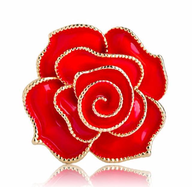 Cài áo cao cấp hoa hồng đỏ