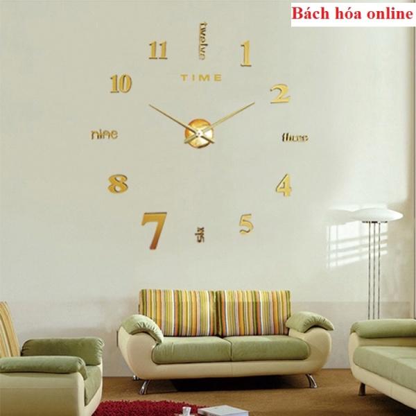 Nơi bán Đồng hồ decor dán tường số lớn điểm nhấn cho mọi không gian, dong ho 3d treo tuong dan tuong , dong ho doc dao