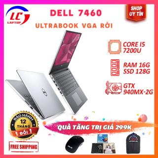 Laptop Học Sinh, Laptop Văn Phòng Giá Rẻ Dell Inspiron 7460, i5-7200U, VGA NVIDIA 940MX-2G, Màn 14 Full HD IPS, Laptop Game thumbnail