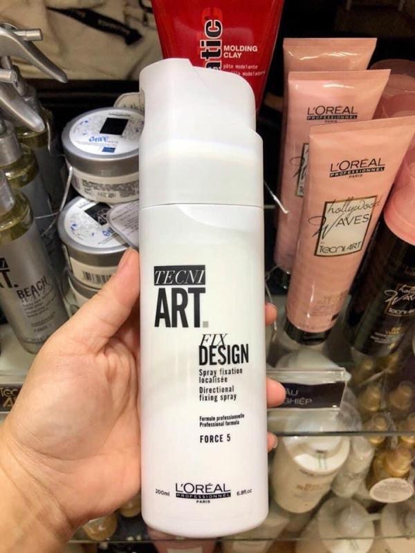 Xịt tạo kiểu, định hình lọn tóc Loreal Tecni Art Design Directional Fixing Spray 200ml, độ cứng 5 giá rẻ
