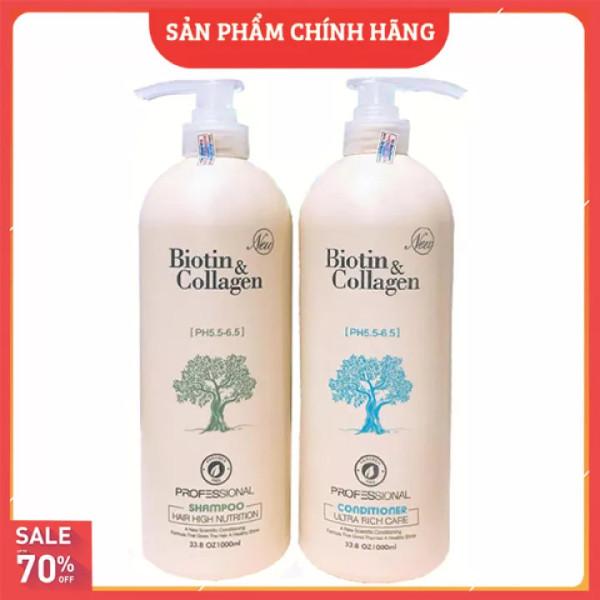 [ SIÊU SALE ] Cặp dầu gội xả Biotin collagen (Dung tích mỗi chai 1000 ml) | Hàng Chính Hãng