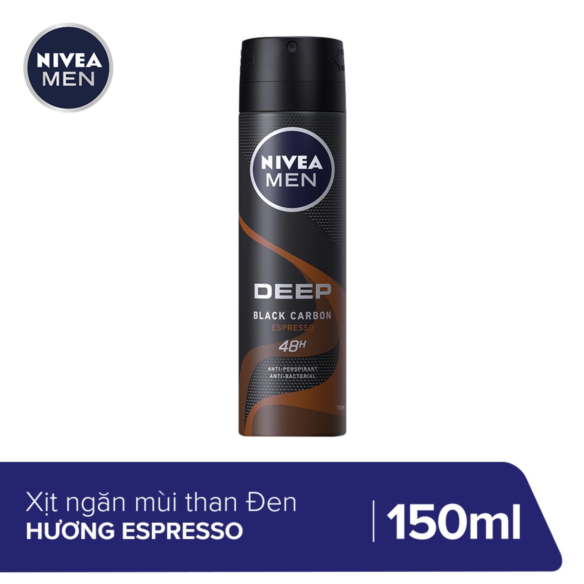Xịt ngăn mùi Nivea Than Đen Hương Espresso 150ML - 85367 nhập khẩu