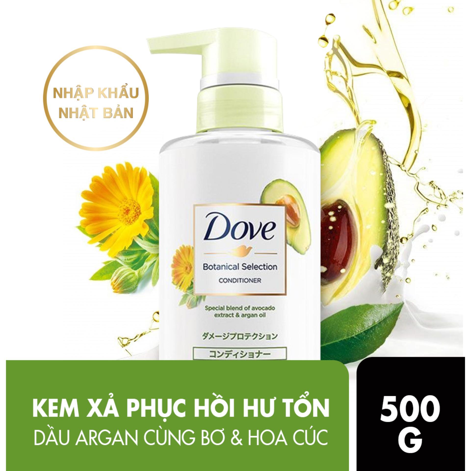 Kem xả Dove phục hồi hư tổn chiết xuất bơ & dầu dầu Argan Botanical Selection 500g tốt nhất