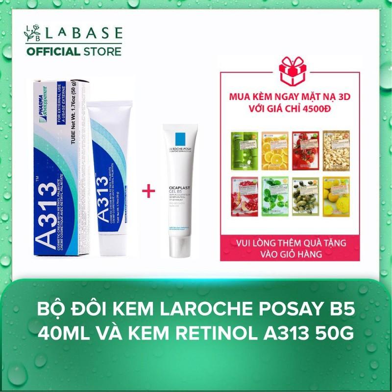 Bộ đôi gel Laroche Posay B5 40ml và kem Retinol A313 50g