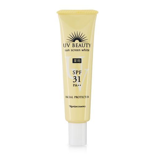Sữa chống nắng bảo vệ da mặt Naris UV Beauty Sun Screen White Facial Protector SPF31 PA++ nhập khẩu