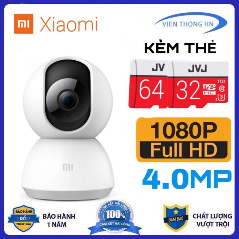 Kèm thẻ 64gb hoặc 32gb camera wifi ip xiaomi mijia trong nhà hd 1080p 4.0MP xoay 360 - Camera an ninh Mi Home Security - vienthonghn