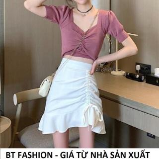 Chân Váy Chữ A Lưng Cao Thời Trang Hot BT Fashion - (VA2-Dây Rút) thumbnail