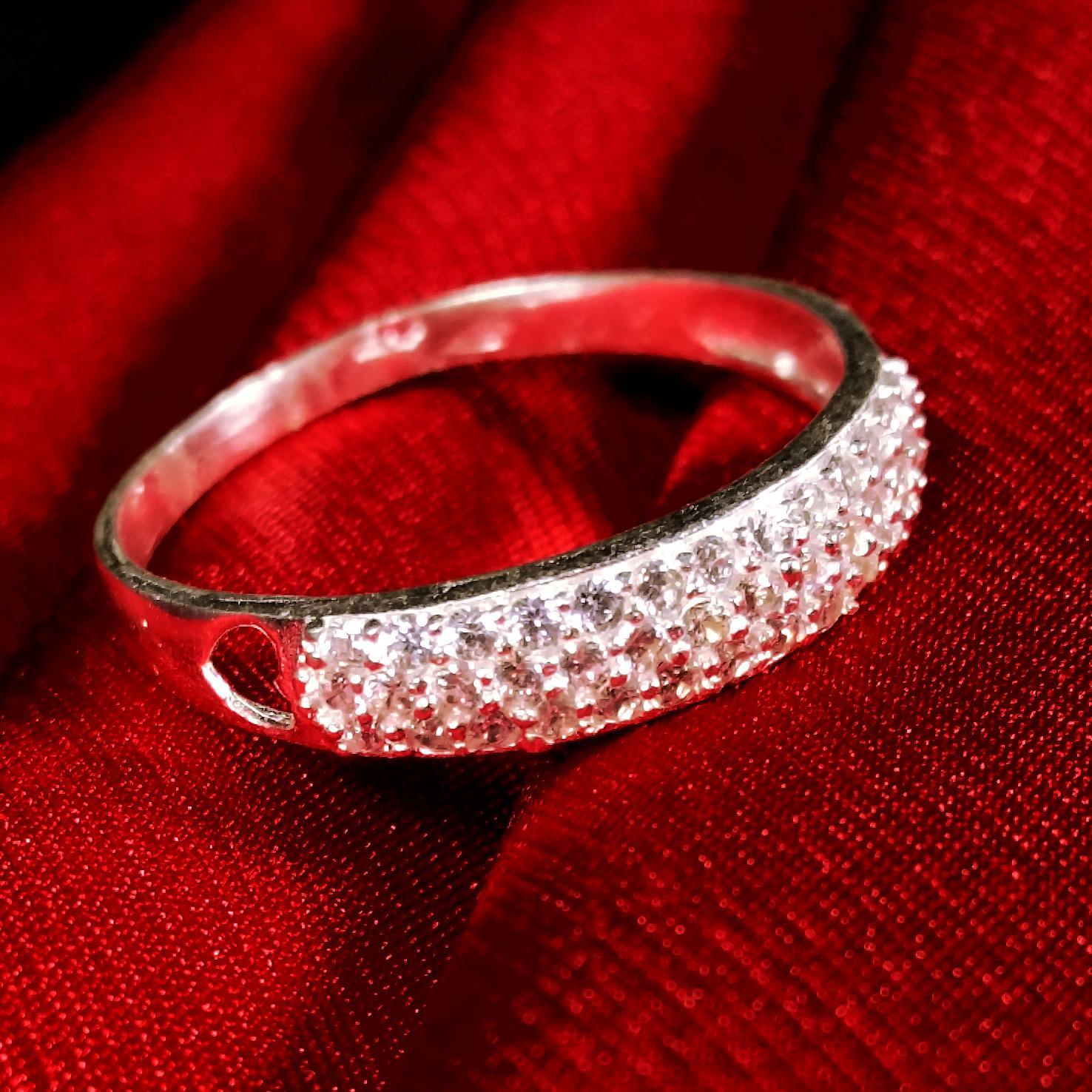 Nhẫn bạc nữ đính đá - Trang sức Bạc Panmila cao cấp (NN.A9)