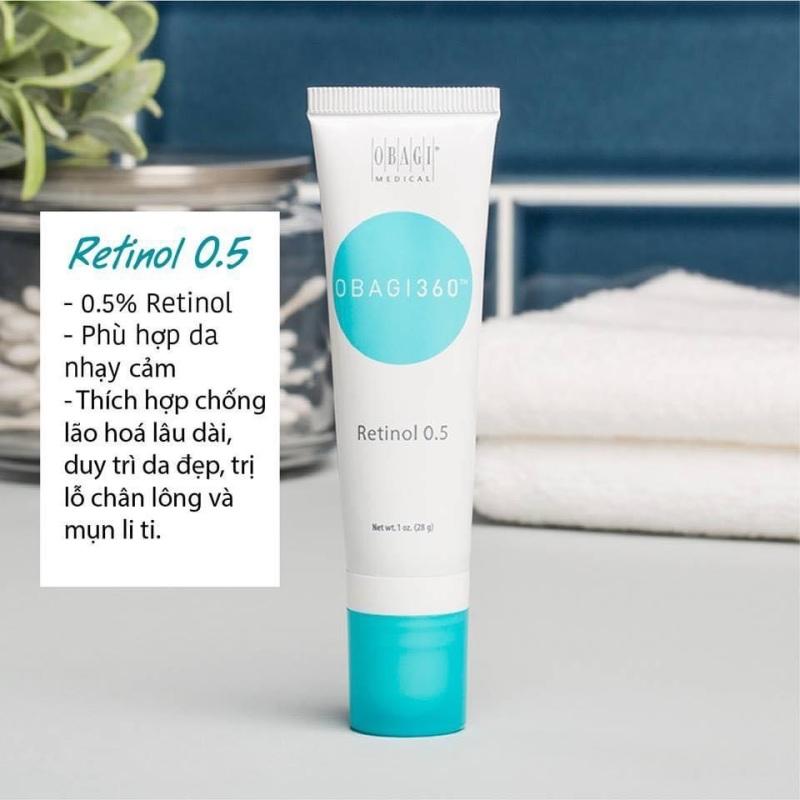 Obagi 360 Retinol 0.5% trẻ hoá da, ngăn ngừa mụn 28gr giá rẻ
