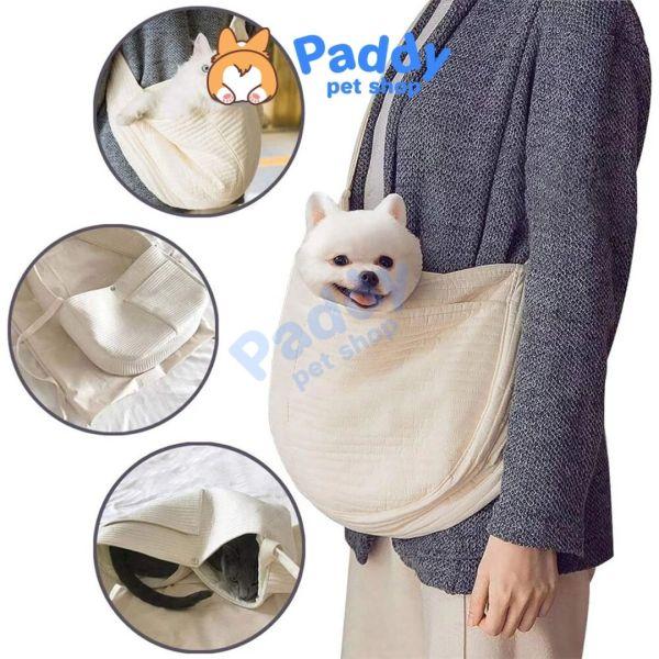 Túi Vải Đeo Chéo Vận Chuyển Chó Mèo