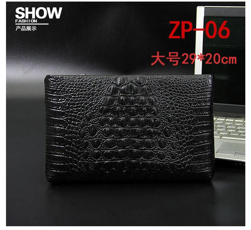 New Style Large Size Full-grain Leather Clutch Leather Handbag Business Large Capacity Leisure Mens Bag Envelope Wallet