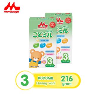 Combo 2 hộp Sữa Morinaga Số 3 Kodomil 216g hộp Cho Bé Từ 3 Tuổi - Hương Vani date T8.2021 (không tem đổi quà) thumbnail