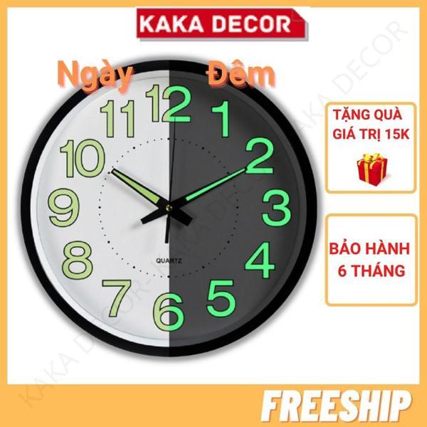 [Freeship+quà 15k]Đồng hồ treo tường trang trí đẹp phòng khách độc lạ kim trôi dạ quang phát sáng KaKa Decor, tặng Pin và móc treo đồng hồ 15k bán chạy