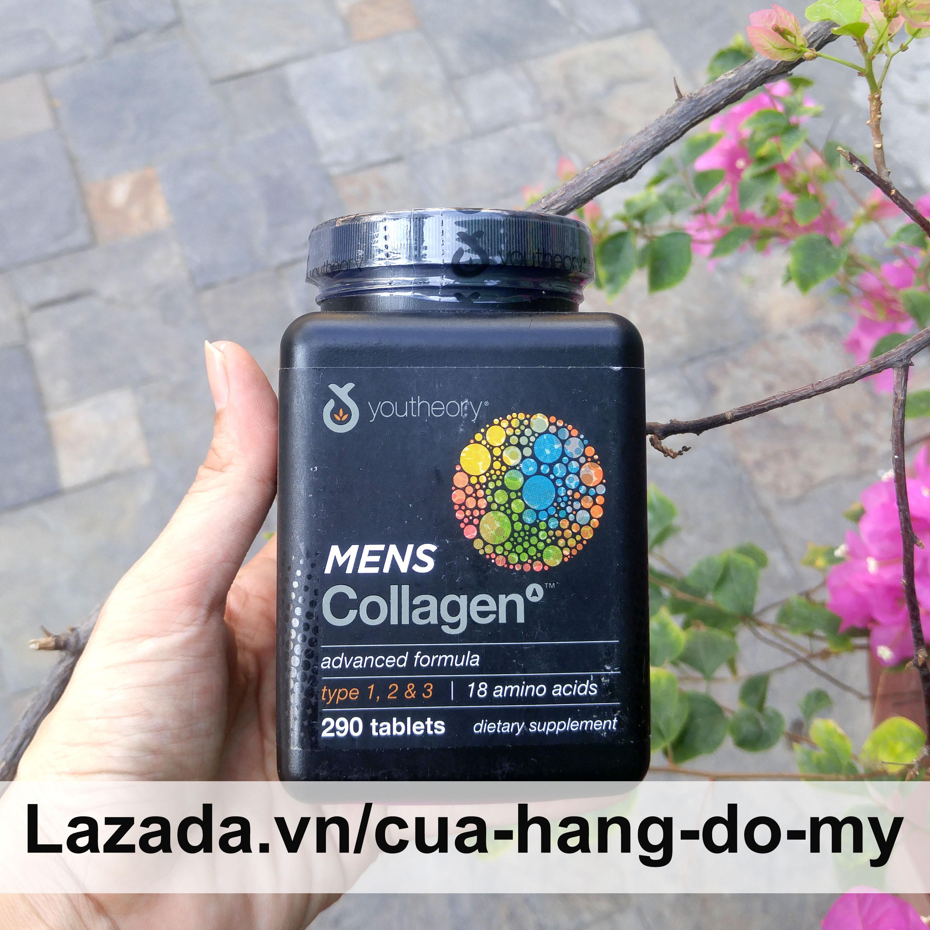 Viên Uống Collagen Youtheory Men Type 1,2&3 Dành Cho Nam 290 Viên - collagen 1 2 3 dành cho nam