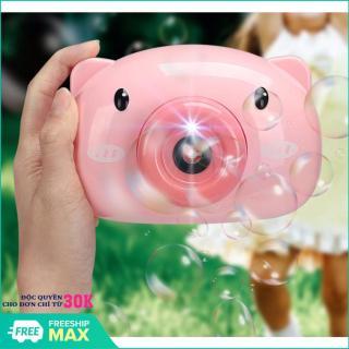 Máy thổi bong bóng hình heo dễ thương - Máy ảnh thổi bong bóng xà phòng quà tặng dễ thương cho bé thumbnail