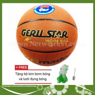 [HCM]Quả bóng rổ số 7 Gerustar tặng bộ kim bơm bóng và lưới đựng bóng Greennetworks thumbnail