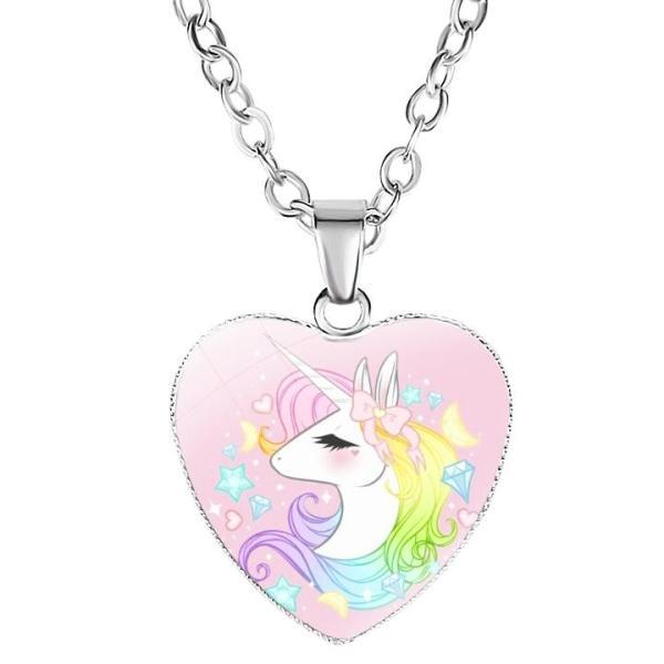 Giá bán Dây chuyền Unicorn bằng hợp kim hình trái tim cho bé gái BBShine – J035