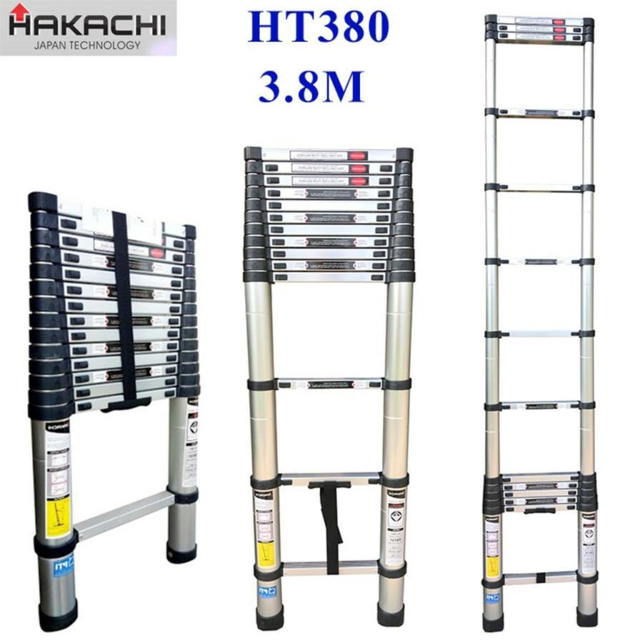 THANG NHÔM CAO CẤP HAKACHI NHẬT BẢN HT380CP - 3M8. MỚI 2019