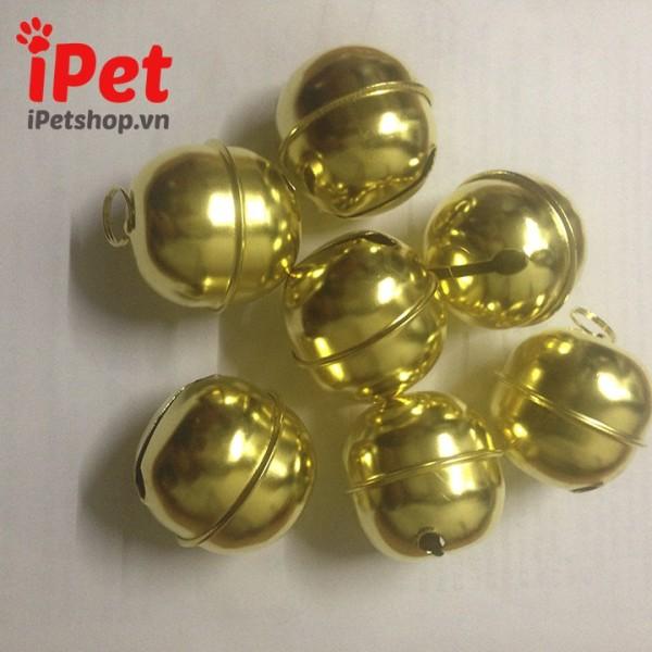 [Lấy mã giảm thêm 30%]Lục Lạc Inox Mạ Vàng- iPet Shop