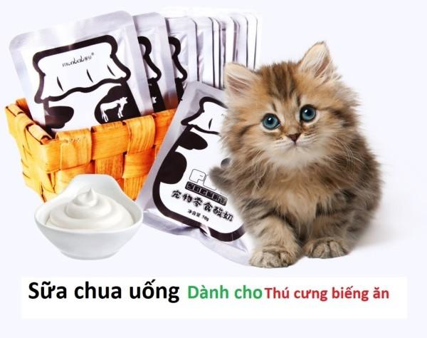 Sữa chua chó mèo biếng ăn gói 50ml Hỗ trợ tiêu hoá hạn chế đi ỉa
