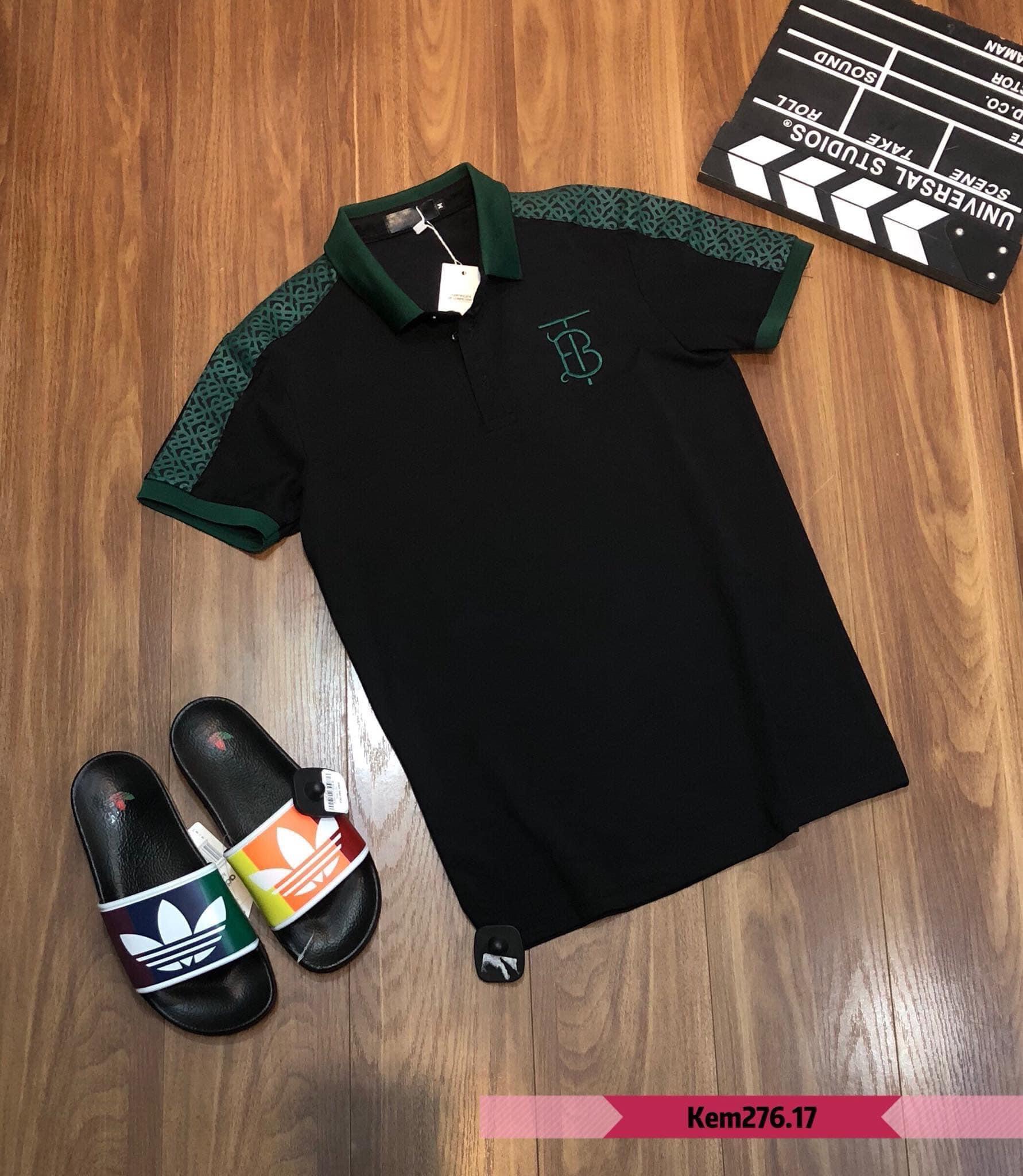 Áo thun nam POLO CỔ XANH  cao cấp, Chất liệu cotton cá sấu, phong cách thể thao , 2 màu trắng đen, full size từ 35-90kg