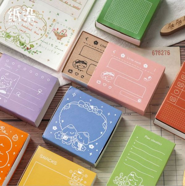 Con dấu gỗ Paperdyeing Beibei life record wooden stamp | BDD028