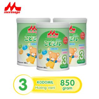 Combo 3 hộp Sữa Morinaga Số 3 Kodomil Cho Bé Từ 3 Tuổi - Hương Vani 850gr - HSD T12 2021 (không đai đổi quà) 1