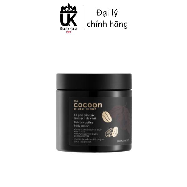 [HCM]Cà phê Đắk Lắk tẩy da chết toàn thân Cocoon Dak Lak Coffee Body Polish 200ml
