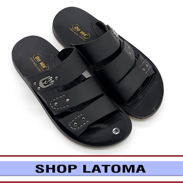 Dép da nam quai ngang đúc liền quai đế 2 lớp bền chắc kiểu dáng lịch lãm thời trang cao cấp Latoma TA4841 (Nhiều Màu) giá rẻ