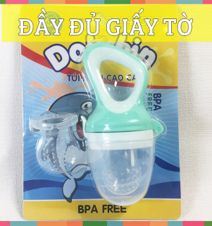 Túi Nhai Ăn Dặm Silicone Dolphin - Đầy đủ giấy tờ an toàn cho bé - DP056A thumbnail