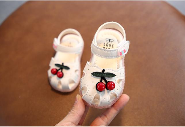 Giày búp bê cao cấp bé gái. Giày quả cherry cho bé gái. Giày sandal cho bé 12-36 tháng. Giày hoa anh đào cho bé. My little boss giá rẻ