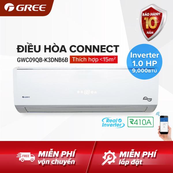 Bảng giá Điều hòa GREE- công nghệ Real Inverter- 1 HP (9.000 BTU) - CONNECT GWC09QB-K3DNB6B (Trắng) - Hàng phân phối chính hãng