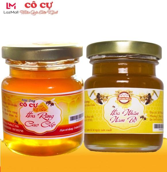 Combo 2 hủ mật ong nguyên chất hoa rừng cao cấp 100gr + mật ong hoa nhãn 100gr Thương Hiệu Cô Cự