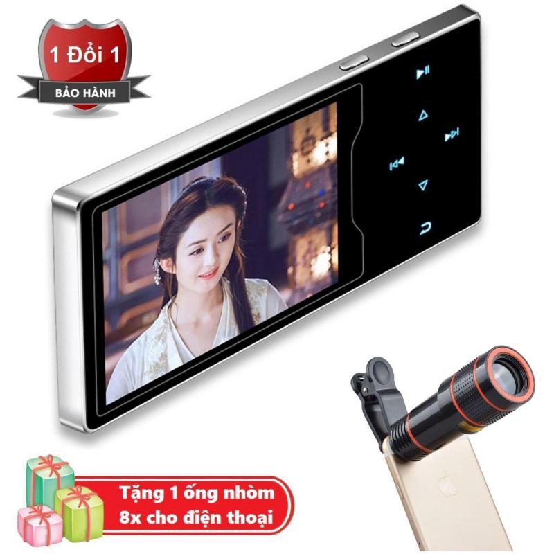 Máy nghe nhạc Ruizu D08 cao cấp màn hình HD 2.4 inch Tặng kèm Ống nhòm 8x cho điện thoại
