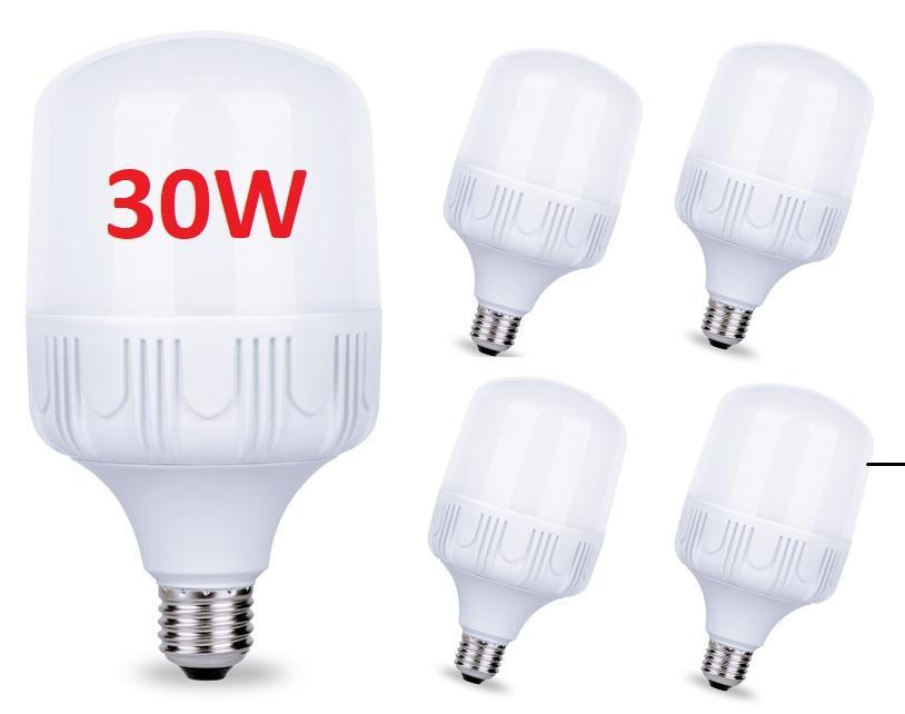 Ưu Đãi Giá cho Bộ 5 Bóng đèn Led 30W Cao Cấp Tiết Kiệm điện. Màu Sáng: Warm Trắng (3000-3200K), Pure White (6000K-6500). Bảo Hành: 12 Tháng