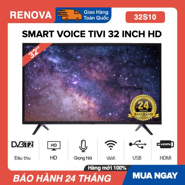 Bảng giá Smart Voice Tivi RENOVA 32 inch HD - Model 32S10 Android 9.0, Tìm Kiếm Giọng Nói, Wifi, DVB-T2, Youtube, Tivi Giá Rẻ - Bảo Hành 2 Năm (Thương hiệu của Asano)